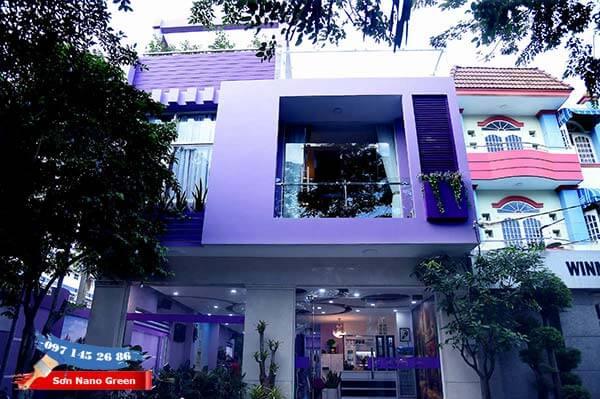 Màu sơn tường nhà bên ngoài màu Tím mang đến cảm giác Lãng Mạn & Bình Yên - SonNanoGreen.com