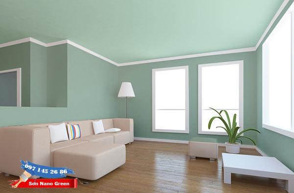 Phối màu sơn trần nhà theo gam màu nhẹ nhàng - tinh tế