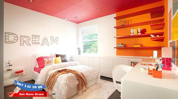 Phối tương phản với màu tường hoặc màu nội thất