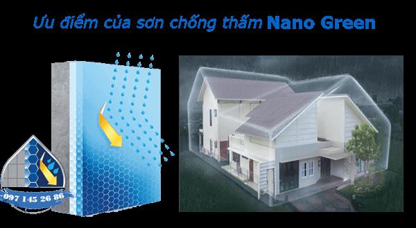Ưu điểm của sơn chống thấm -Waterproof- SonNanoGreen.com
