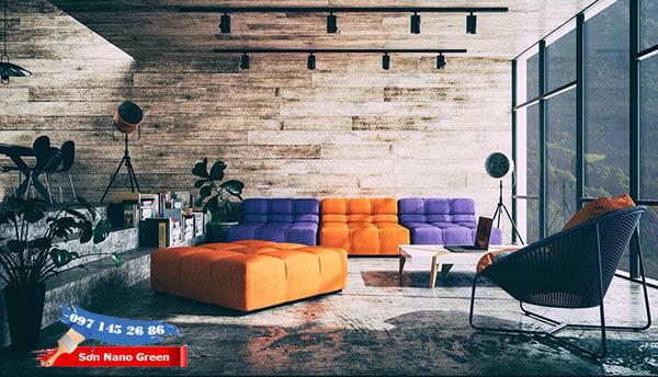 Màu sơn phòng khách đẹp theo phong thủy - Sơn Nano Green