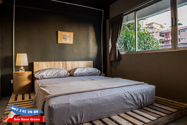 Màu sơn phòng ngủ vợ chồng đẹp & hợp tuổi - Sơn Nano Green