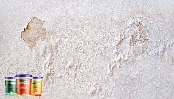 Hiện tượng sơn tường bị phấn hóa - Sơn Nano Green