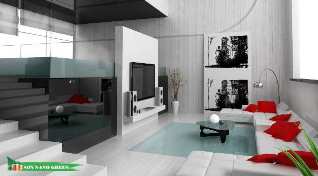 Màu sơn phòng khách phù hợp với tuổi Ất Mão
