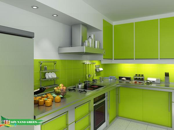 Màu sơn phòng bếp hợp tuổi Mậu Ngọ - Sơn Nano Green